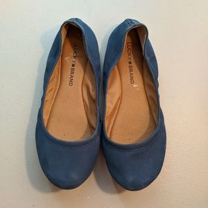 Lucky Brand | Blue Leather Flats